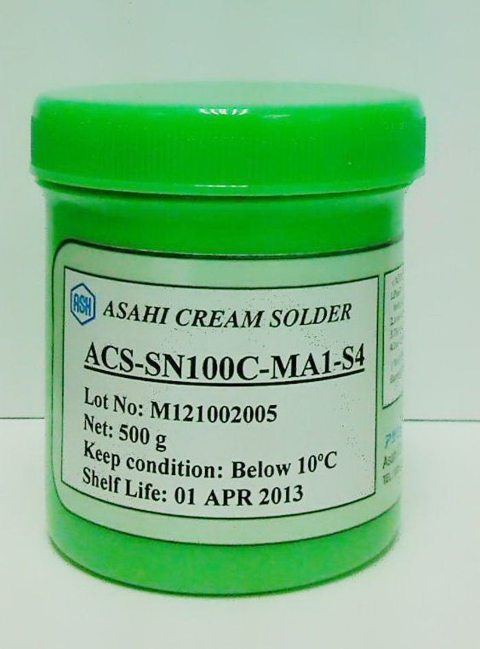 ASAHI 無鉛鍚膏 ACS-SN100C-MA1-S4